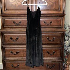 Ramy Brook Black Velvet Slip Dress